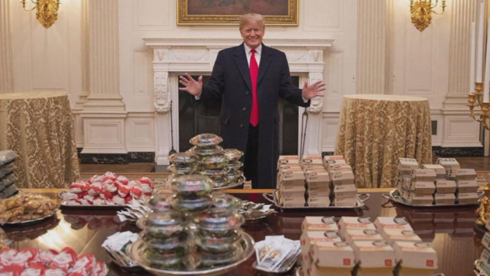 President Trump spent thousands of dollars serving fast food at the White House for the national champion Clemson Tigers football team.