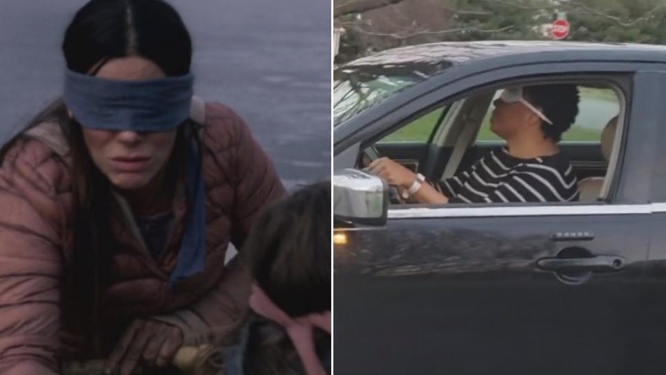 "The ""Bird Box"" challenge has people recording themselves doing everyday things blindfolded."