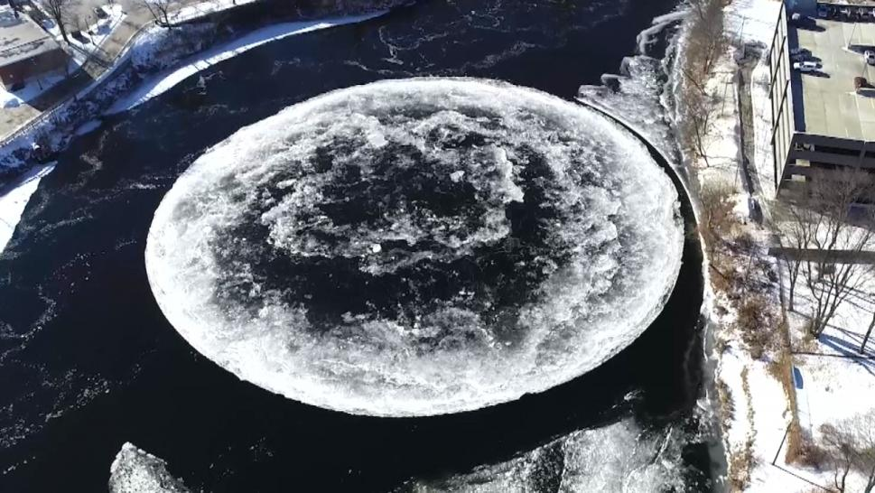 Spinning ice disk