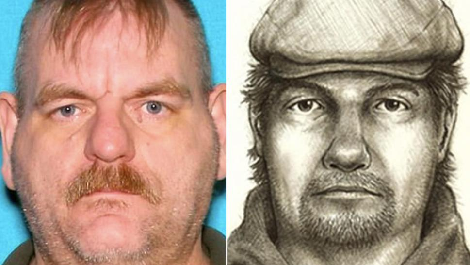 Charles Andrew Eldridge's mugshot has drawn comparisons to composite sketch of a man accused of killing two Indiana teens in 2017.