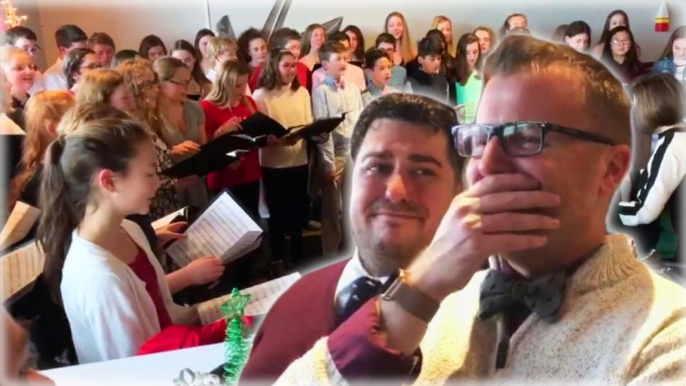 Choir surprises teacher