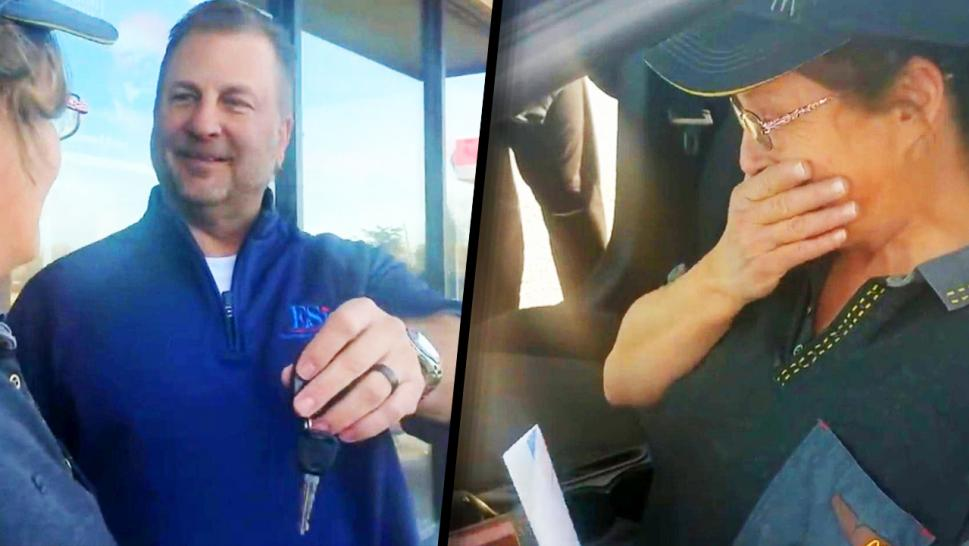 Customer Surprises McDonald's Employee With Free Car