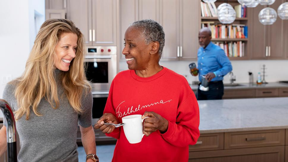 As she battles Alzheimer's disease, famed lifestyle guru B. Smith has help from an unlikely source: Her husband's girlfriend.