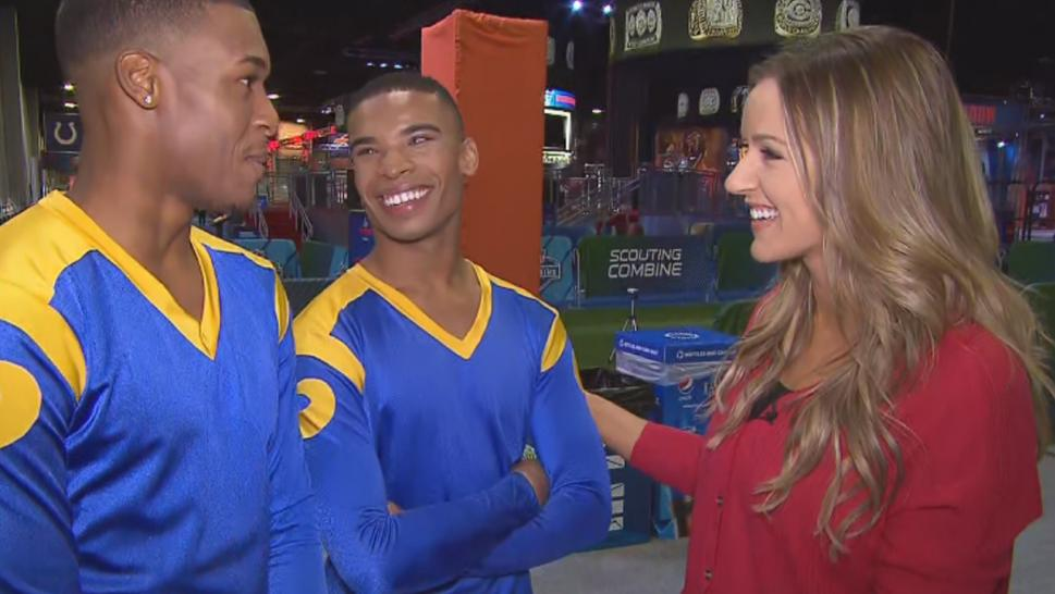 Napoleon Jinnies and Quinton Peron made the Los Angeles Rams squad in 2018 and will join 38 other cheerleaders for the squad's performance at the Super Bowl.