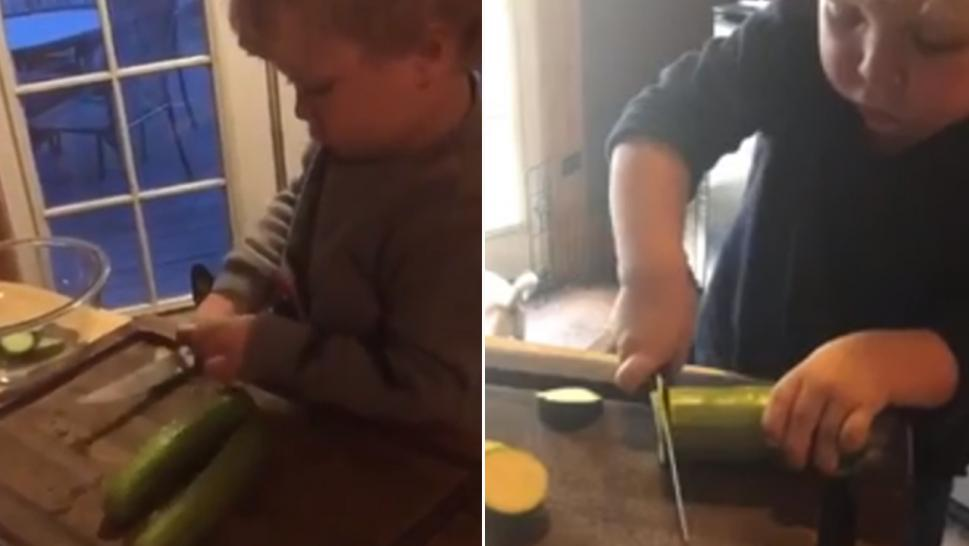 Experts are debating whether young kids should be using knives.
