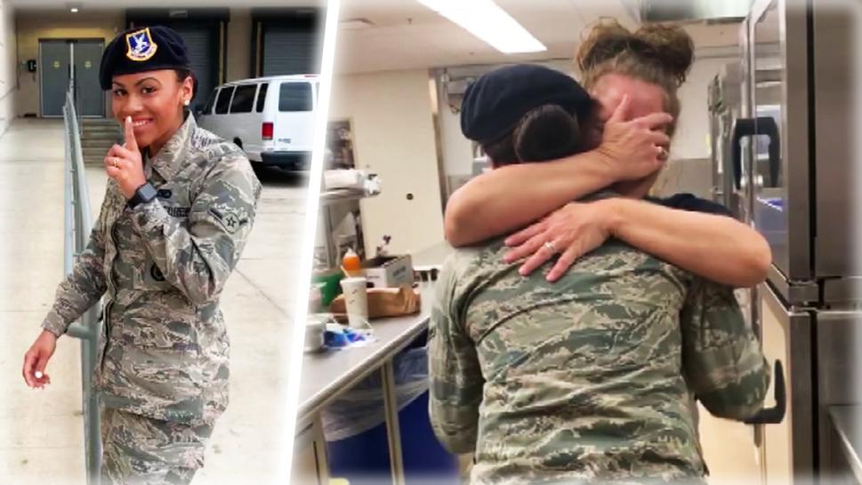 Military Surprise Mom