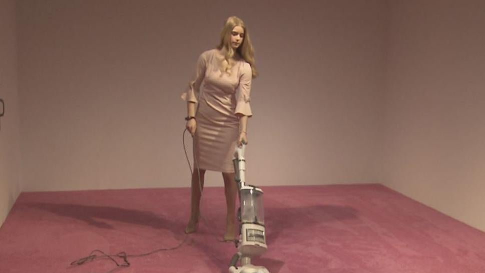 A new Washington, D.C., exhibit features a vacuum cleaner and an Ivanka look-alike.