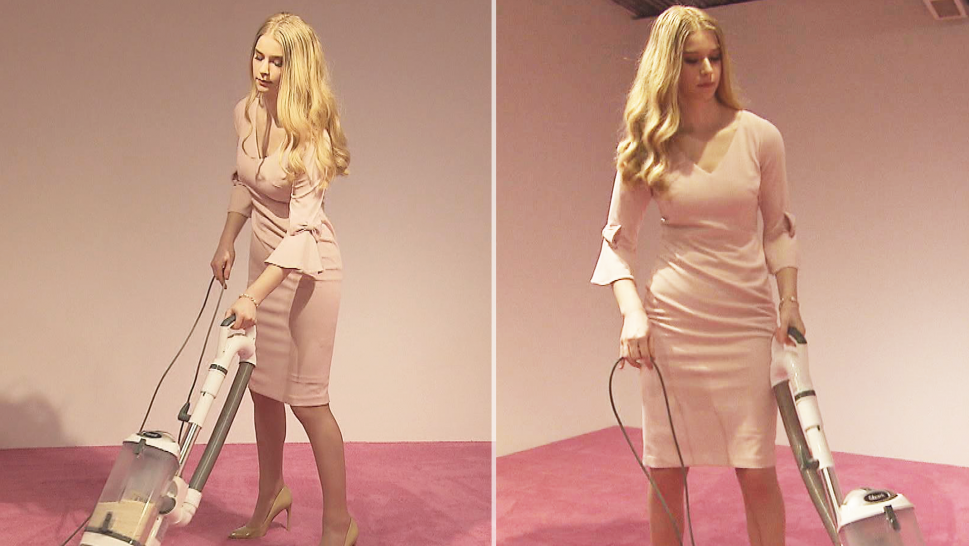 Ivanka Trump Look-Alike Model Vacuums