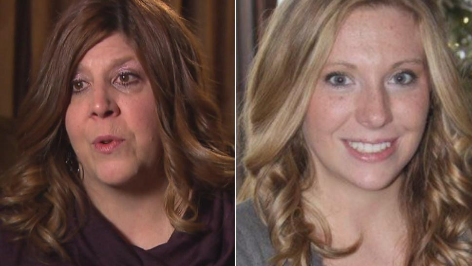 Neala Frye (right), a 23-year-old student at the University of Wisconsin-La Crosse, was found frozen to the ground in 2013 after a daylong search. Her mother, Roxanne Weeden (left), spoke to Inside Edition.