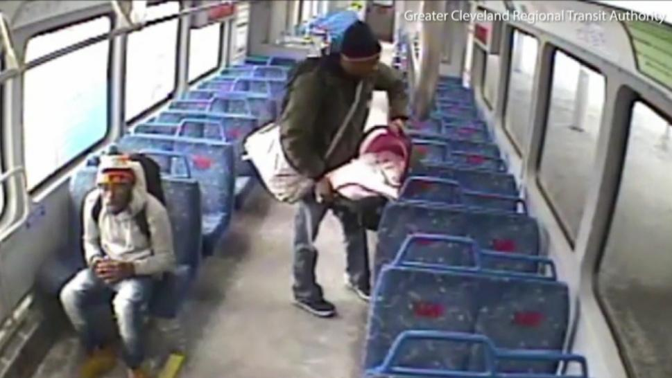 Baby left on train