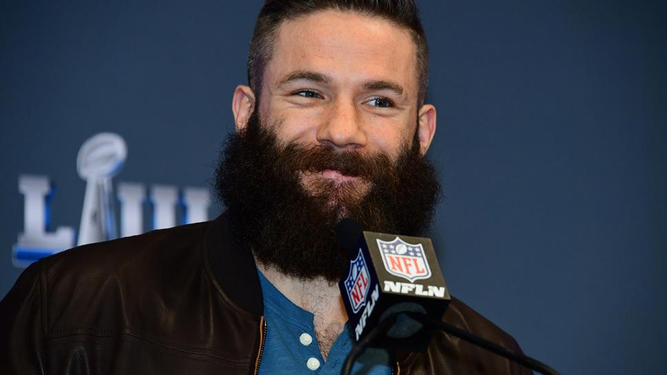 For the last nine months, Super Bowl LIII MVP Julian Edelman has been letting his facial hair grow out. But all it took for him to shave it was a pair of bets.