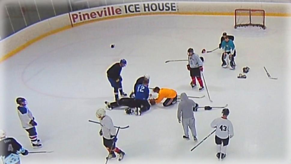 Doctor Performs CPR During Hockey Game