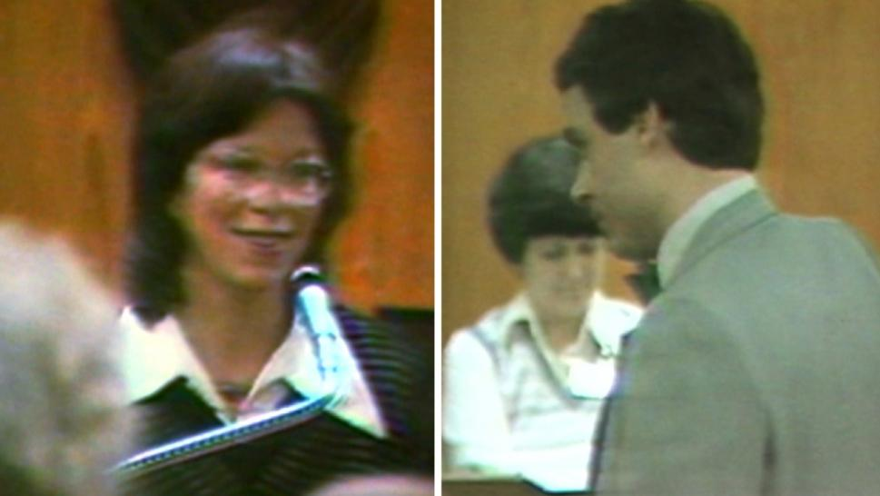 Ted Bundy and his wife