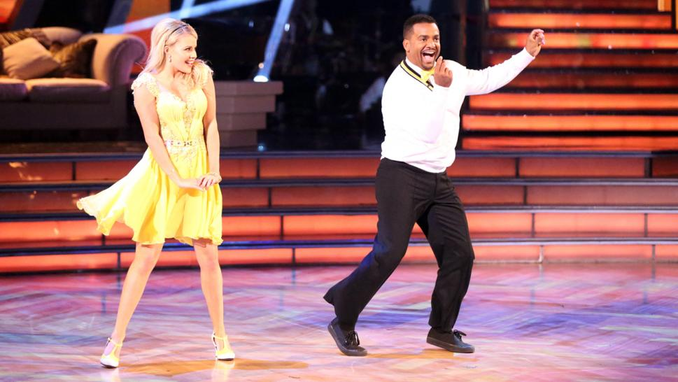 Alfonso Ribeiro performs the Carlton dance on Dancing With the Stars.