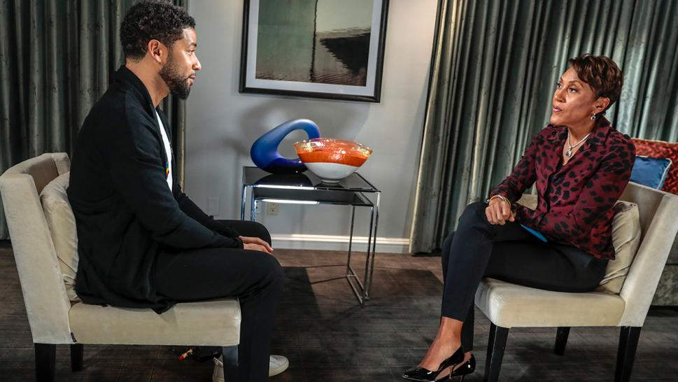 Jussie Smollett speaks to ABC News' Robin Roberts.