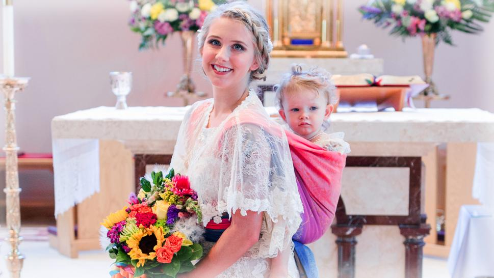 Breastfeeding at wedding
