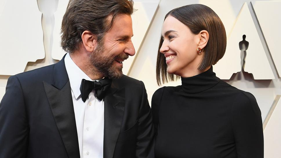 Bradley Cooper and Irina Shayk beam at each other at the 91st annual Academy Awards.