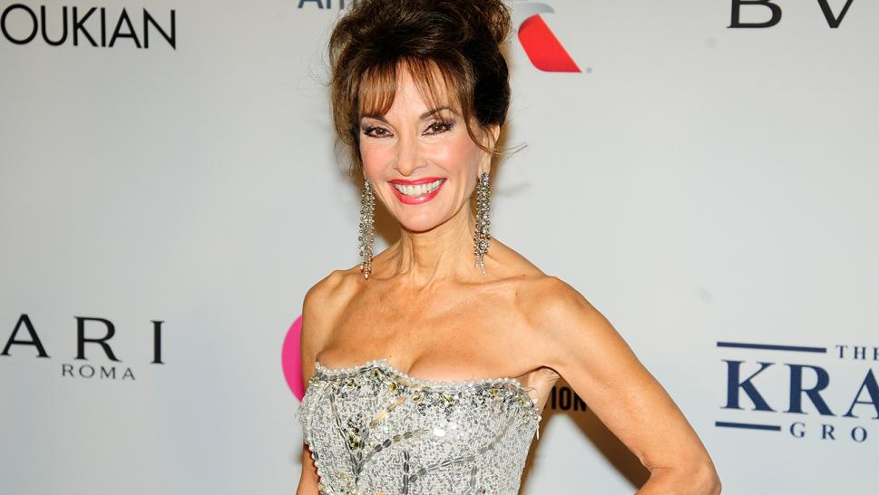 Susan Lucci poses at a red carpet.