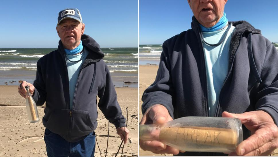 Jim and Candy Duke found a bottle in Texas that government scientists had dropped in the water nearly 60 years ago.