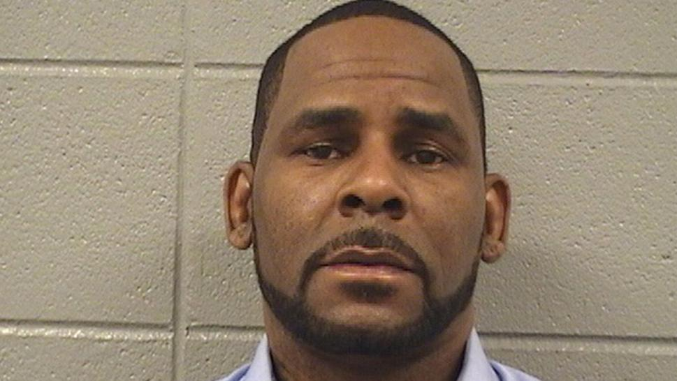 R. Kelly in his March 6 mugshot.