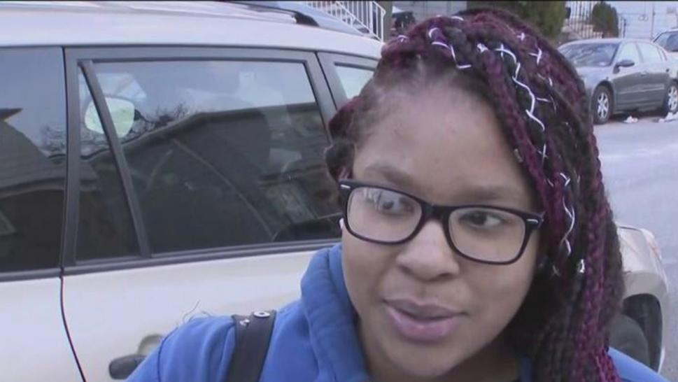 Kayla Rose heard screaming coming from the trunk of a parked car.