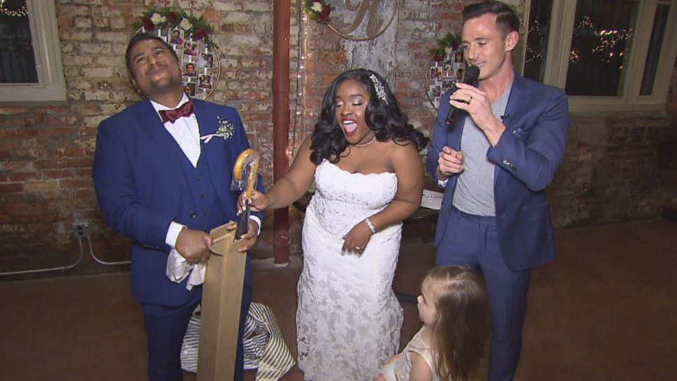 A couple got a do-over after Hurricane Florence forced them to postpone their first wedding.