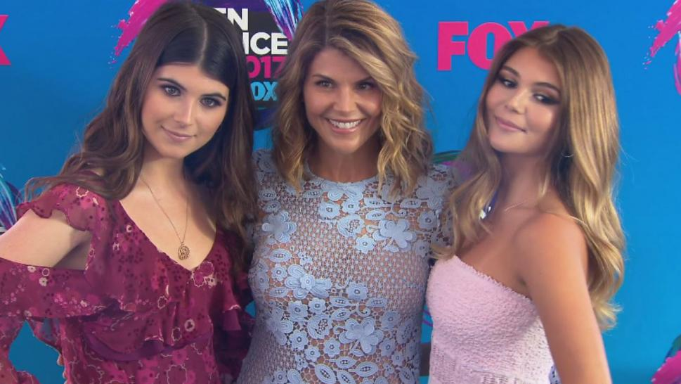 Lori Loughlin poses with her daughters.