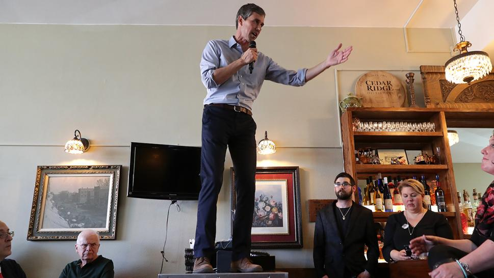 Beto O'Rourke is getting lots of attention these days — and not just because he's running for president. His wild hand gestures are the talk of the town.
