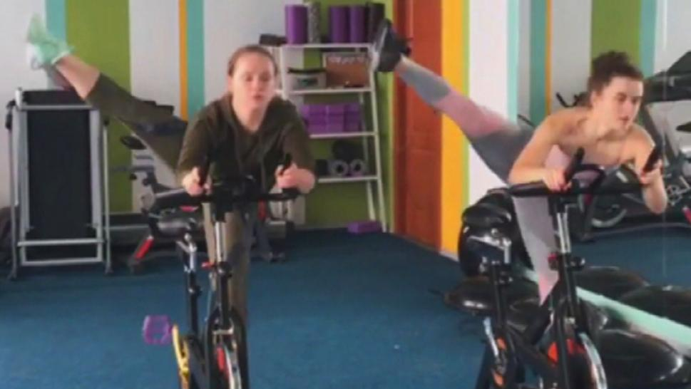 Cycling Instructor Teaches Wild Moves