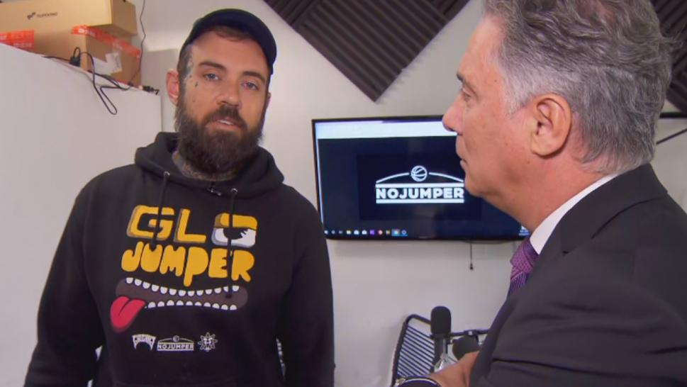 Adam Grandmaison talks to Inside Edition's Chief Correspondent Jim Moret about the moment his livestream was interrupted by an attempted robbery.