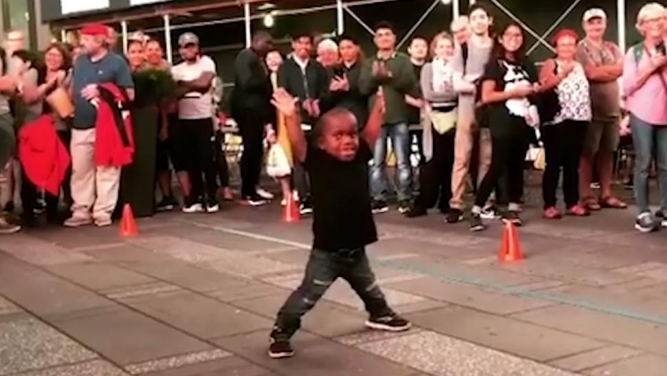 DJ Loheit, 7, has got amazing breakdancing moves.