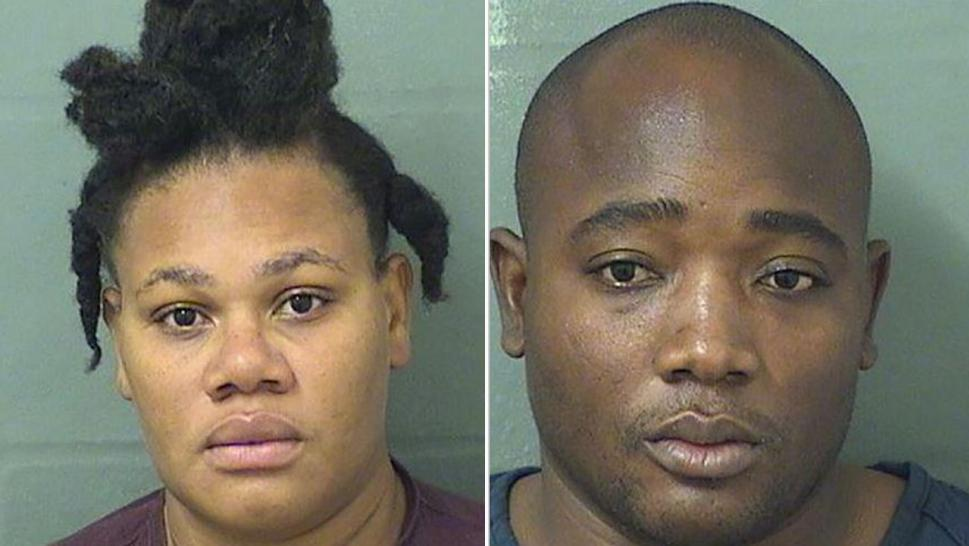 Jolanda Larose Alexandre and Makenson Alexandre were arrested in Florida.