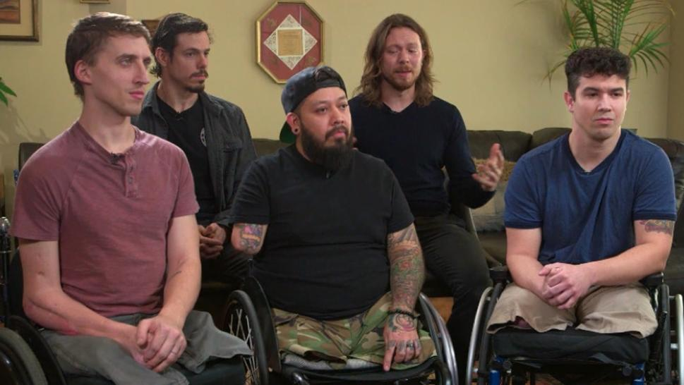 The wounded war veterans have found healing through music.