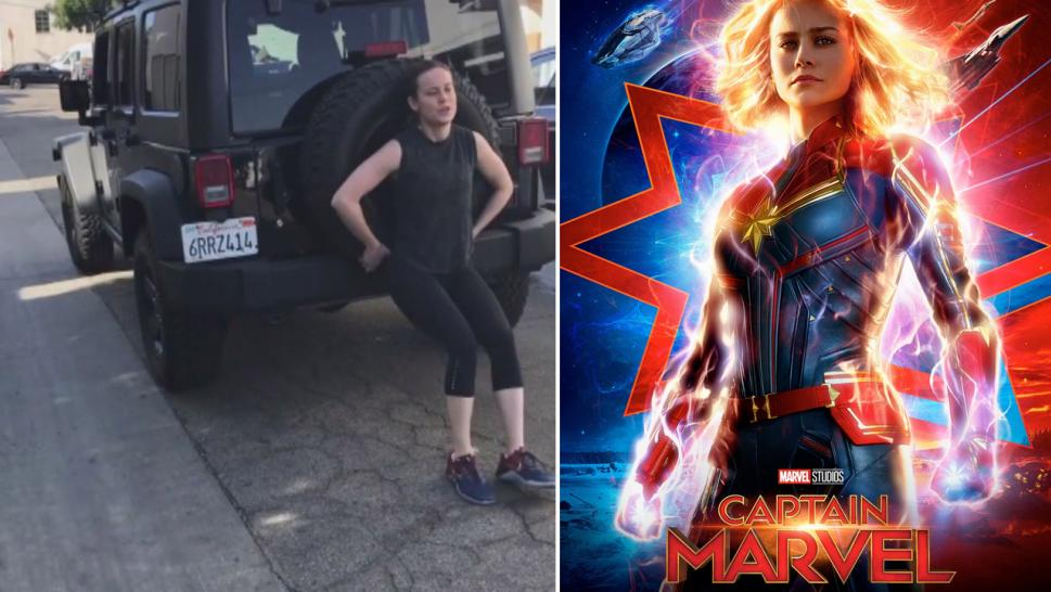 "Oscar winner Brie Larson, who did a lot of her own stunts for ""Captain Marvel,"" created a huge stir when she posted video last month of herself pushing the car."