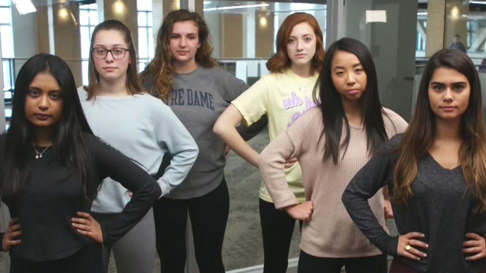 Notre Dame students wear leggings in solidarity