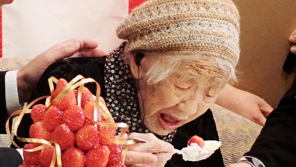 Kane Tanaka was named the oldest living person when she turned 116 years and 28 days old.