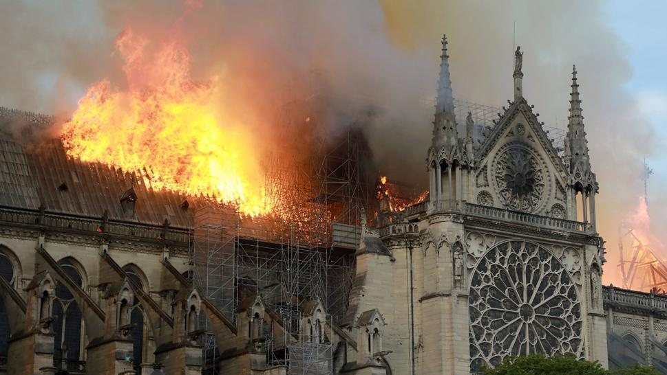Notre-Dame was engulfed by flames in a stunning and heartbreaking sight.