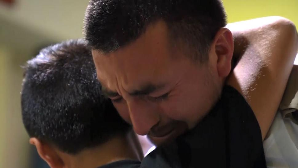 Emotional Reunion for 10-Year-Old Separated From His Father at U.S. Border