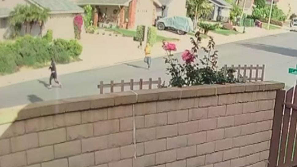 A California mom lured an intruder away from her home to save her kids.