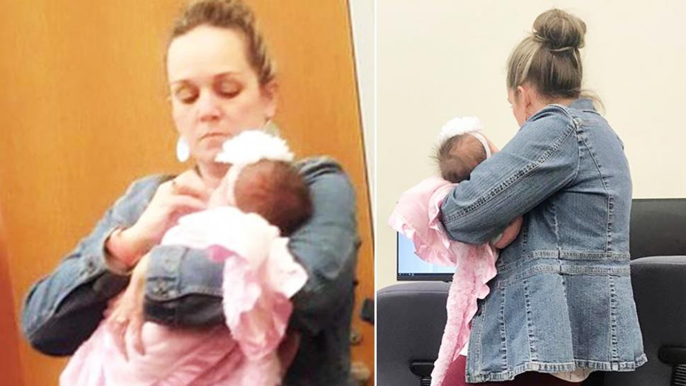 Professor Holds Single Mother's Baby So She Can Take Exam