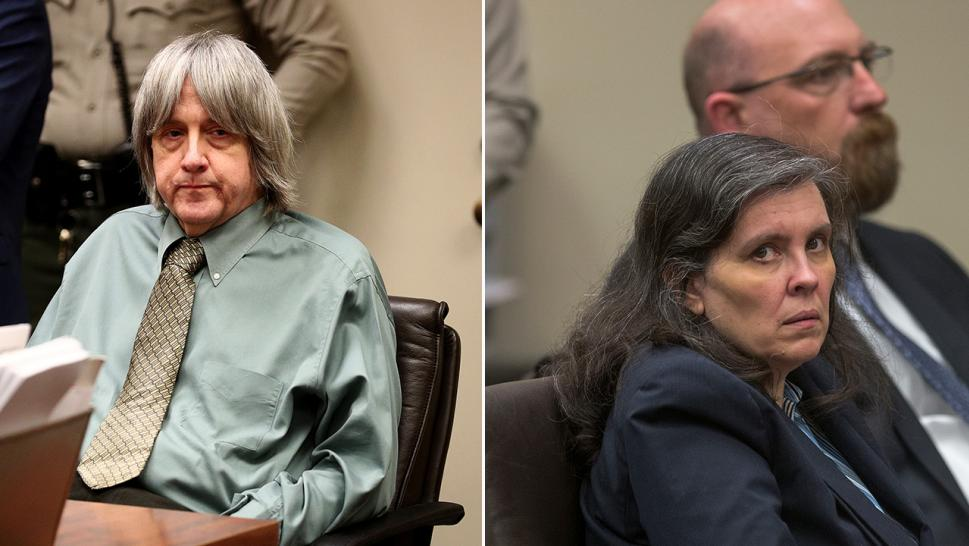 David (left) and Louise Turpin appear in court.