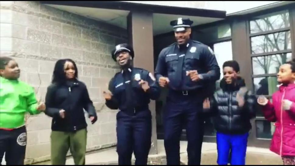 Singing police officers
