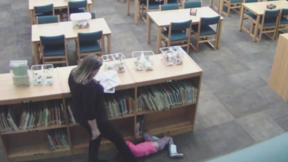 Video appears to show a teacher kicking a 5-year-old girl.