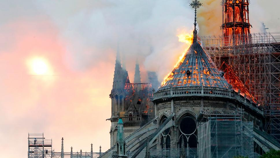 The Notre Dame Cathedral in Paris caught fire Monday evening.