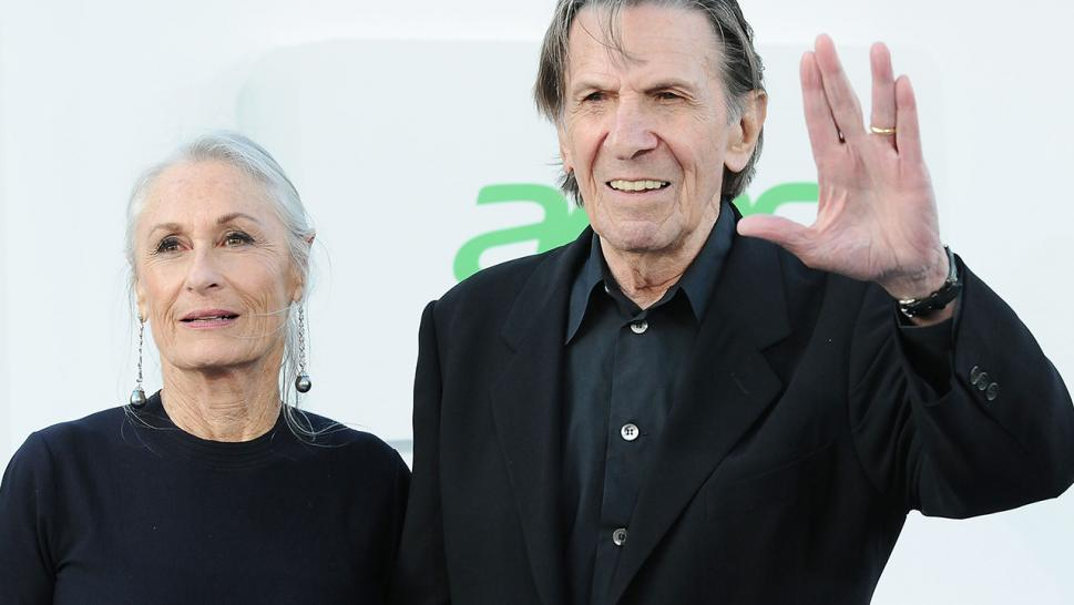 Leonard Nimoy and his wife, Susan Bay, pose together in 2013.