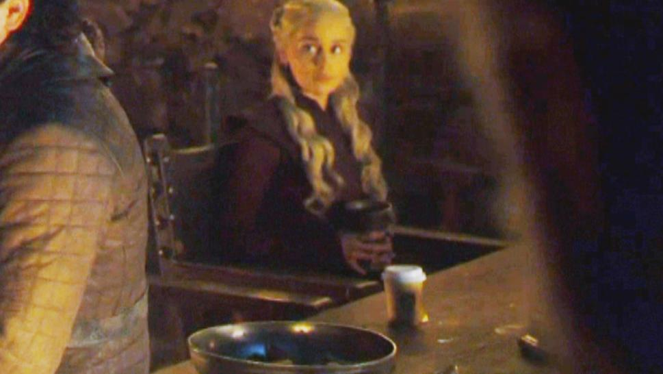 "Is that a coffee cup in a ""Game of Thrones"" scene?"