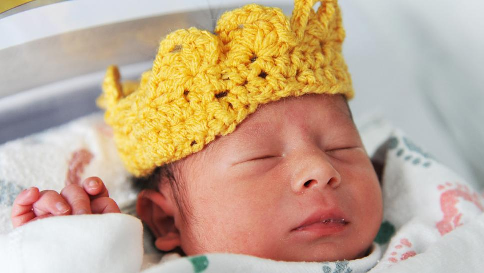 Baby in a small crown