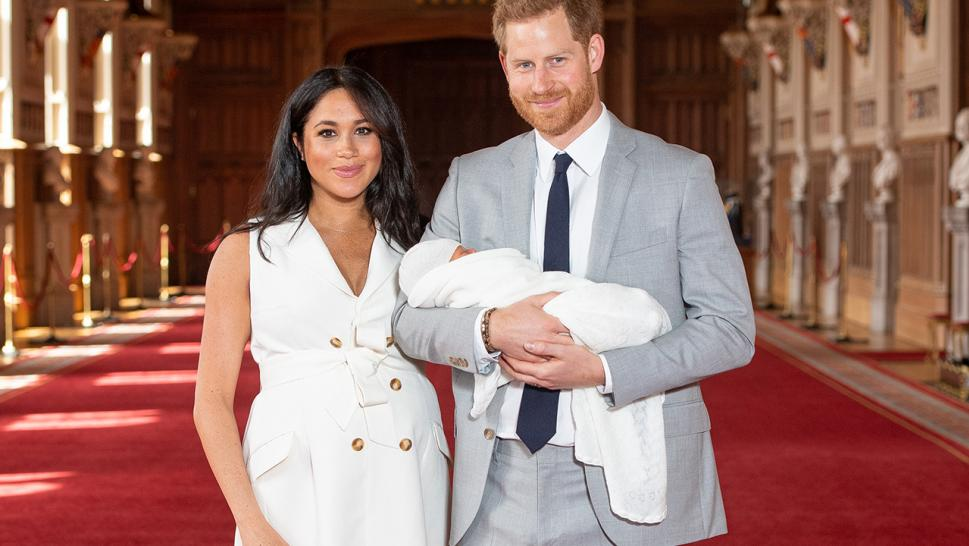 Meghan Markle and Prince Harry offered the world its first glimpse of their newborn son on Wednesday, two days after he was born.