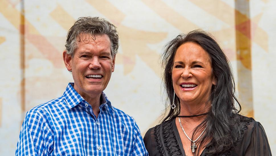Randy Travis and his wife, Mary