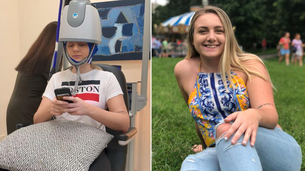 Juliette DePalo says Deep TMS, or Deep Transcranial Magnetic Stimulation Treatment, has worked in treating her depression and anxiety better than any medication she ever tried.